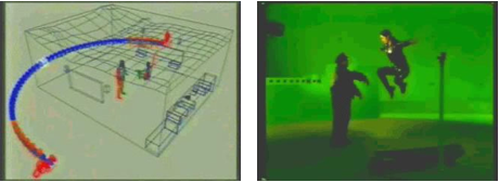 "Camera path and action shot from the film ""<i>The Matrix</i>"""