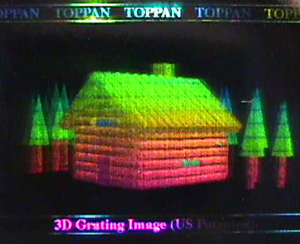 "Multi-colour ""3D grating image"" by Toppan"
