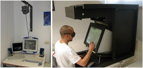 Figure 4: An autostereoscopic (left) and a stereoscopic (right) proof-of-concept prototype.